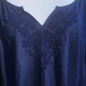 Lane Bryant Tops - 💜 GUC Embroidered Cotton Long Sleeve Top